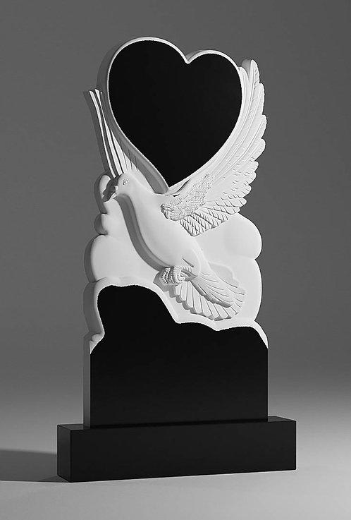 Памятник В-49 Голубка и сердце