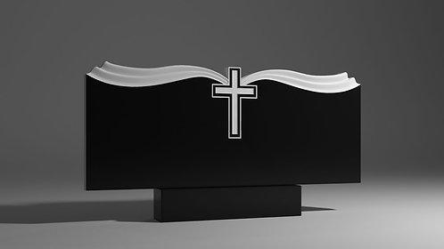 Памятник А-03 в виде раскрытой Библии