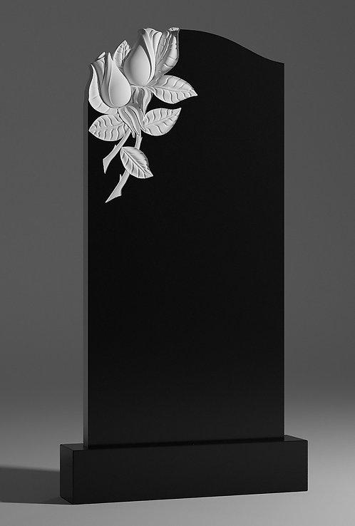 Памятник из гранита с розами