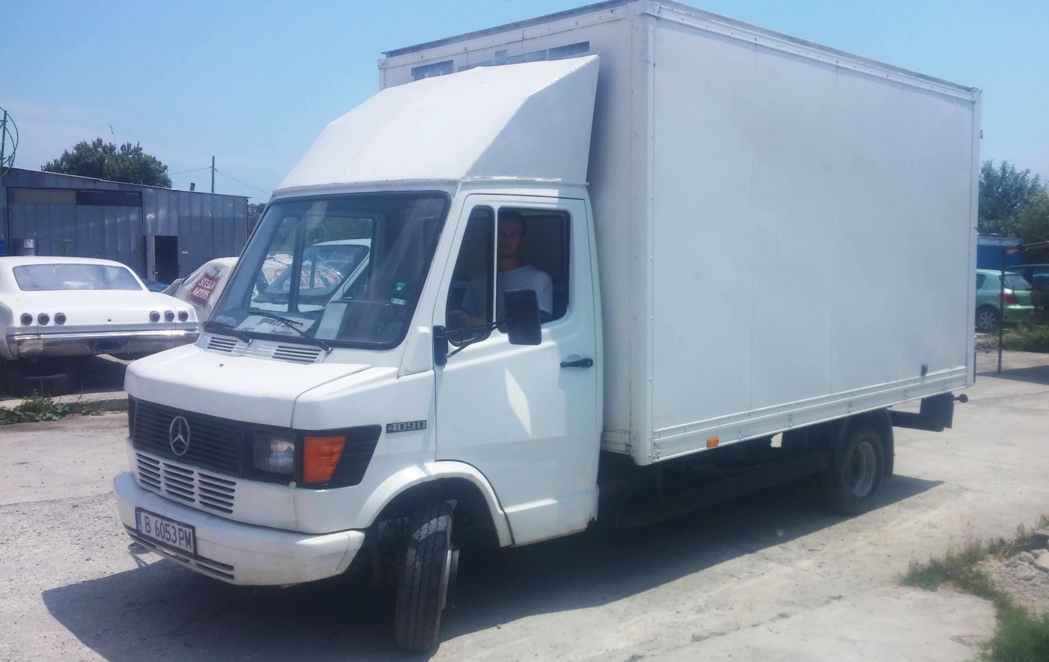 Закрит камион за транспорт