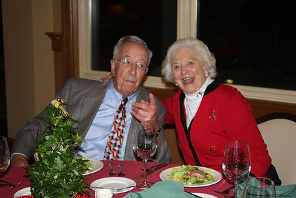 Rotarian Bob Sherman and wife Corinne at Rotary holiday dinner