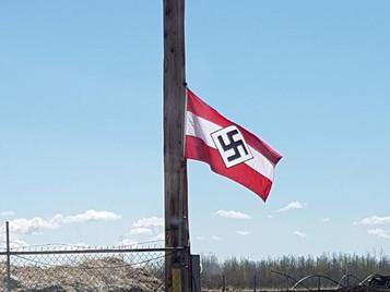 Disturbing Anti-Semitic Flag Appearing in Breton Alberta
