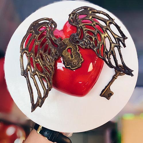 Smooth Heart Valentine's cake