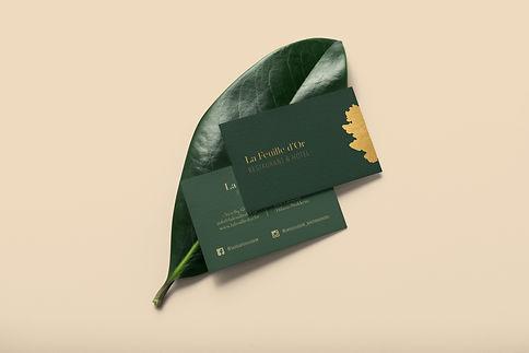 La Feuille d'Or - businesscards optie 1