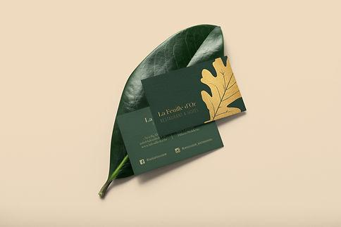 La Feuille d'Or - businesscards optie 2