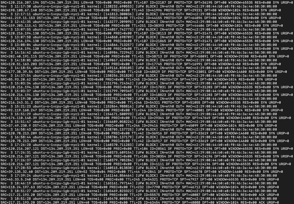 Unparsed log files