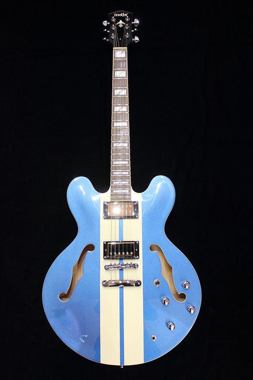 Indie Guitars 335 Two Tone Stripe