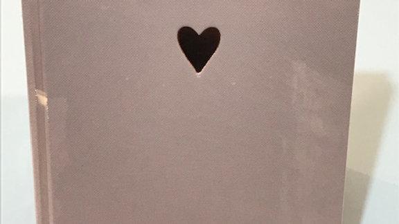 """Notizbuch  """"Rosa Herz, Größe 15x22 cm, 192 Seiten, dottet"""
