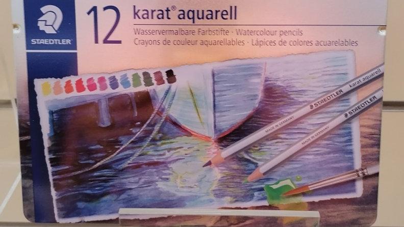 Staedtler Aquarell, Wasservermalbare Farbstifte, 12 brilliante Farben,mischbar