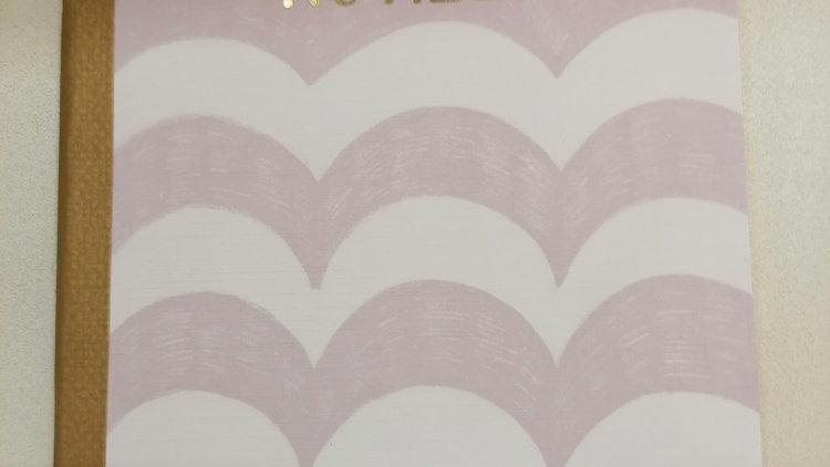 """Notizheft """"Wellen rosa/weiß"""" A5 liniert 24 Seiten"""