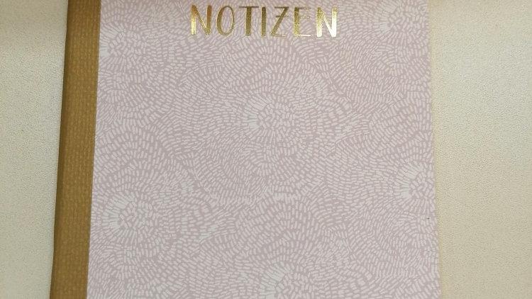 """Notizheft """"Blumen graphisch rosa"""" A5 liniert 24 Seiten"""