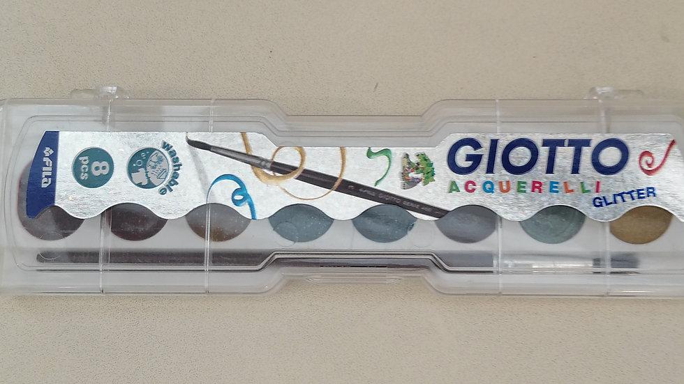 """Giotto Malkasten """"glitter 8 Farben mit Pinsel"""