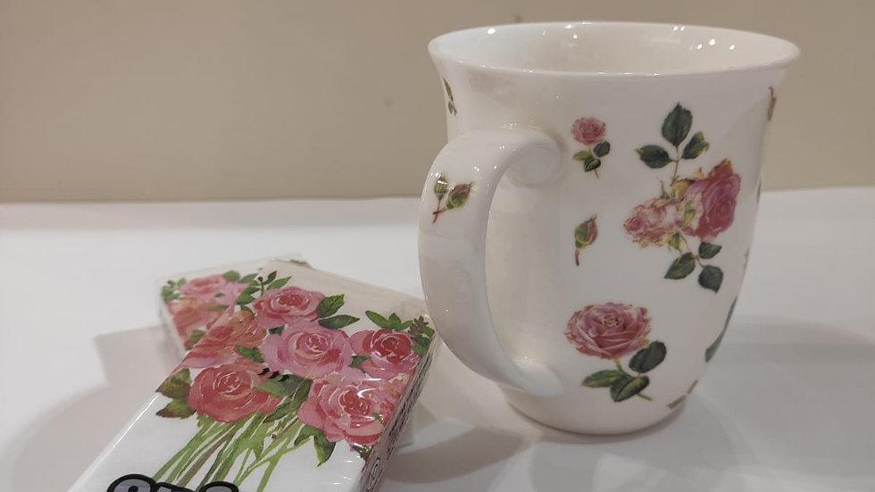 """Tasse """"Rosen"""" 11,95€ ,dazu passend Taschentücher 1,40€"""