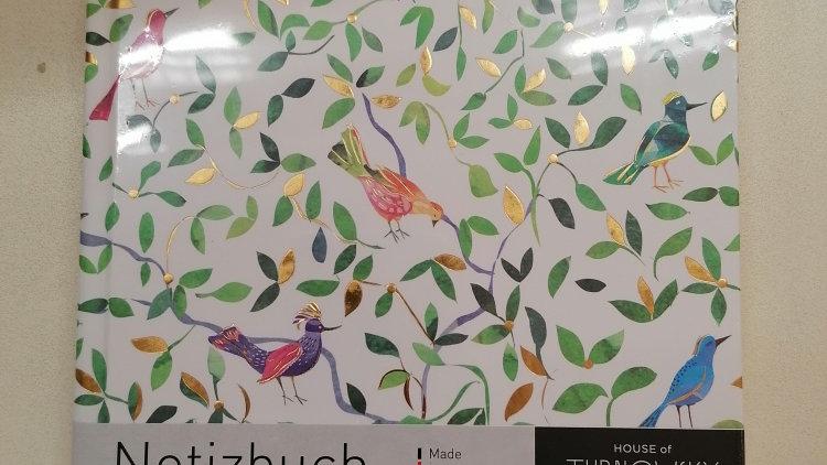 """Notizbuch """"Birdie"""" A5 Format 100g Papier unliniert 200 Seiten"""