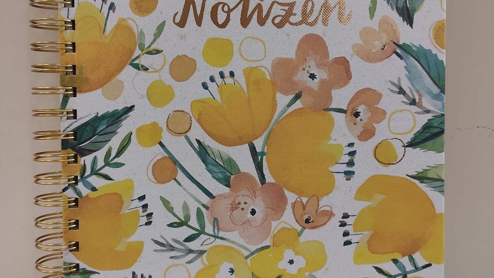 """Spiralnotizbuch """"Sommer in gelb""""   dotted  Format A4"""