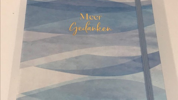 """Notizbuch """"Meer Gedanken"""" ,liniert, Format A5, 92 Blatt, mit Gummizugverschluss"""