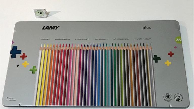 Lamy Farbstifte, buntes Sortiment 36 Farben, bruchfest, dicke Mine 4mm