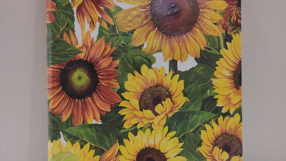 "Notizbuch ""Sonnenblumen""  A5 Format unliniert & Fadenheftung"