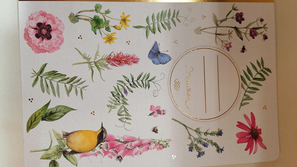 """Notizheft """"Blüten und Gräser Marjolein Bastin"""" ,A4 Format ,dotted  24 Seiten"""