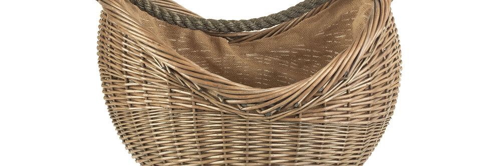 Antique Wash Rope Handled Foraging Basket