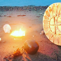 Agnihotra Ceremony with Crystal Skulls.j