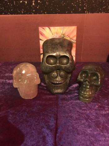 Ancient Jade Skulls & Joy Crystal Skull
