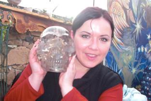 Kalif Elestial Smoky Crystal Skull