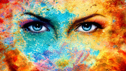 A Pair Of Beautiful Blue Women Eyes Beam