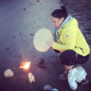 Agnihotra Ceremony with Crystal Skulls,
