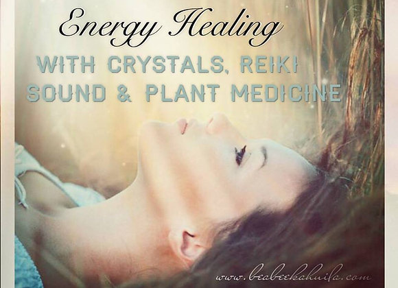 Energy Healing Session with Crystals, Reiki, Sound 45 mins