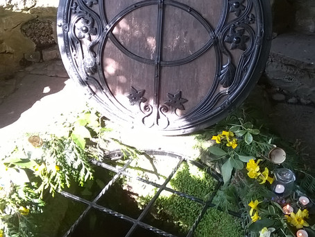 Chalice Well, The Living Sanctuary of the Red Spring, Glastonbury, March 2015, Sacred Blessings to M