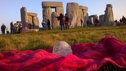 Joy the Crystal Skull at Stonehenge