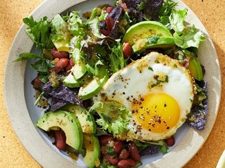 Breakfast Salad with Egg and Salsa Verde Vinaigrette