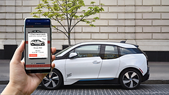 App and Vehicle in background - BMWi3 (s
