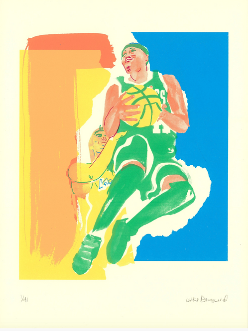 Phenomenal Woman, Leslie Diuguid, 6 color screen print on 290 gsm Coventry rag paper, 12''x9'', Edition: 36 + 3 AP + 3 PP, pr