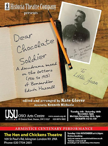 DEAR CHOCOLATE SOLDIER (A6 OSO AND HENS