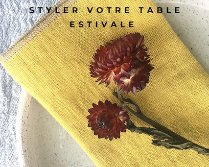 De jolies serviettes de table en lin pour styler votre table estivale