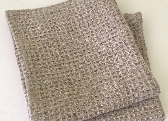 Serviettes d'invités en lin lavé (lot 2 pcs)