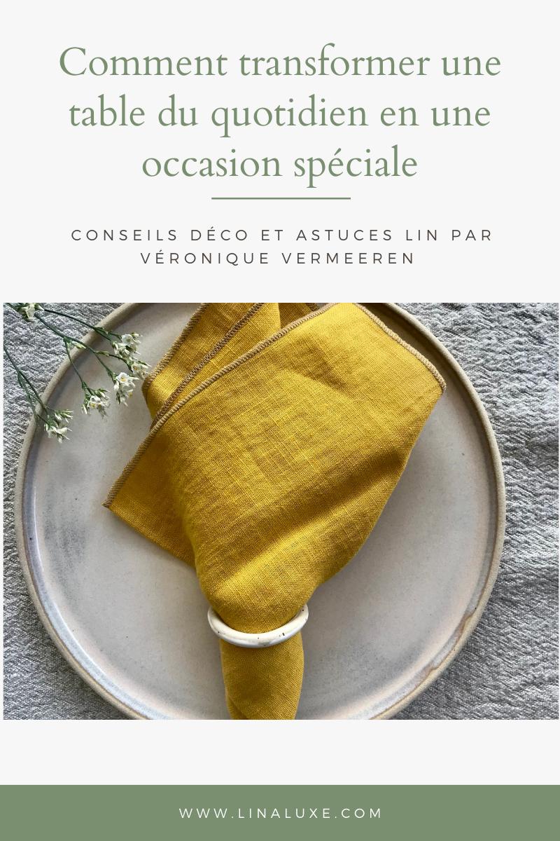 Serviette de table en lin Belgique