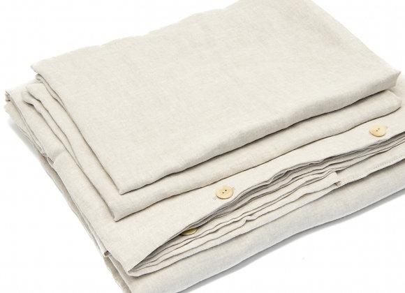 Parure de lit en lin lavé + coloris. À partir de