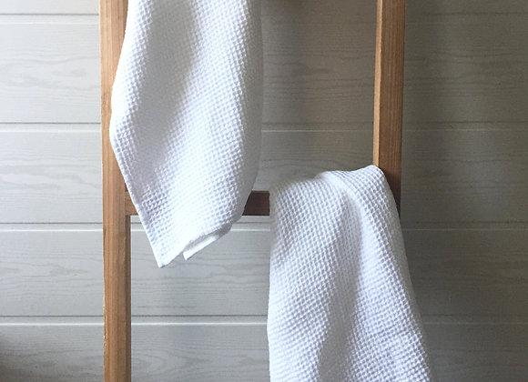 Linge de bain en lin gaufré lavé - À partir de...