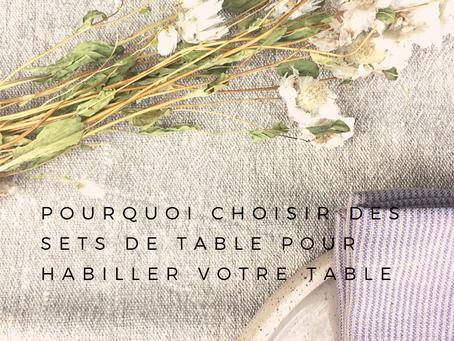 Le set de table en lin, élégance et authenticité pour toutes les occasions