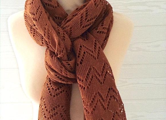 Écharpe tricotée en lin