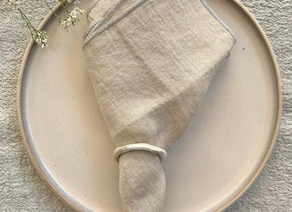 Serviettes de table en lin lavé - lot 2 pcs