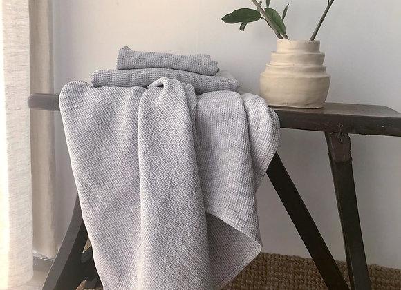 Serviette de bain nid d'abeille - gris chiné. À partir de...