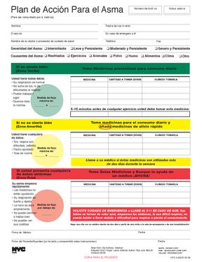 Asthma Action Plan- Spanish