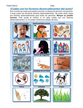 Trigger Identification Sheet - Spanish