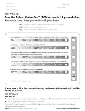 Asthma Control Test ages12+