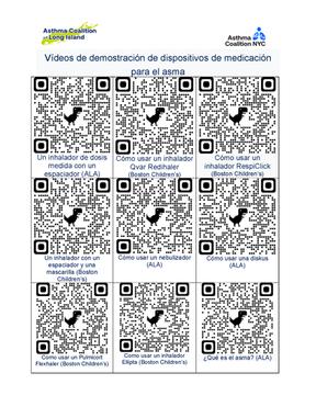 Asthma Device Videos QR Codes