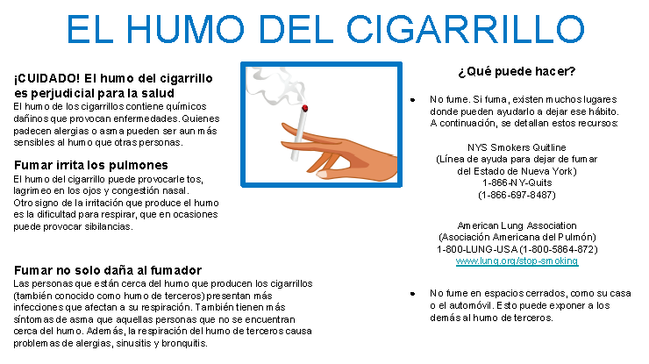 Trigger Information Sheets in Spanish
